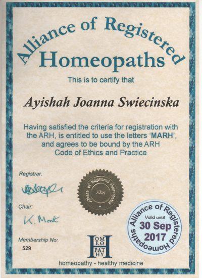 ARH Agrement Code of Ethics & Practice