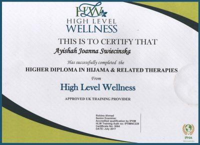 HIJAMA Certificate